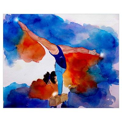gymnastics beam Poster
