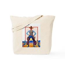 Wild West Dude Gunslinger Cowboy Tote Bag