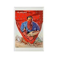 Wild West Red Bandana Outlaw Rectangle Magnet
