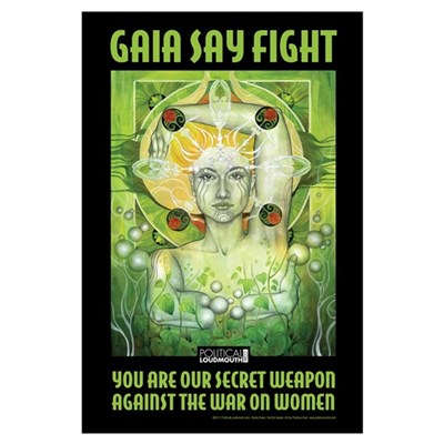 - Gaia Say Fight Framed Print