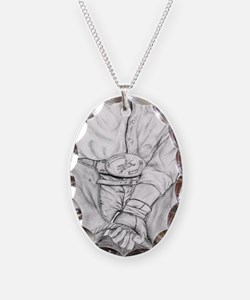 Rodeo Bull Rider Art Necklace