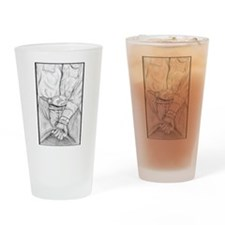 Rodeo Bull Rider Art Drinking Glass