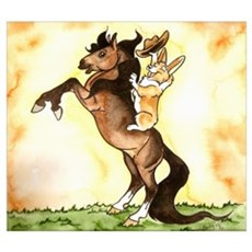 Pembroke Welsh Corgi Pony Poster
