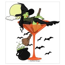 Halloween Martini Girl Poster
