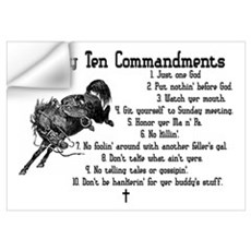 Cowboy Ten Commandments Wall Decal