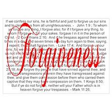 Forgiveness Verses - White Poster