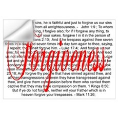 Forgiveness Verses - White Wall Decal