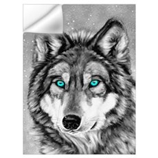 Painted Wolf Grayscale Wall Decal