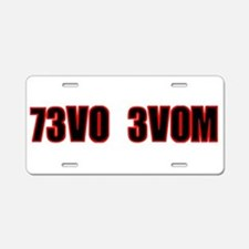 73V0 3V0M Aluminum License Plate