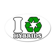 I Heart Hybrids Wall Decal