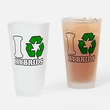 I Heart Hybrids Drinking Glass