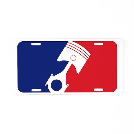 Major League Motor Aluminum License Plate