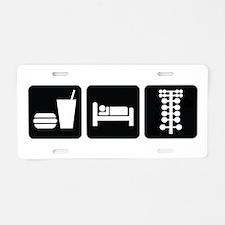 Eat Sleep Drag Aluminum License Plate