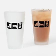 Eat Sleep Drag Drinking Glass