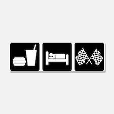 Eat Sleep Race Car Magnet 10 x 3