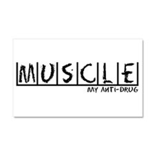Muscle Anti-Drug Car Magnet 20 x 12