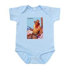 Wild West Cowboy with Two Guns Infant Bodysuit