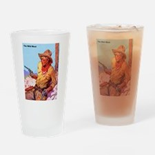 Wild West Cowboy with Two Guns Drinking Glass