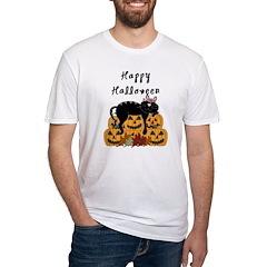 Halloween Black Cat and Pumpkins Shirt