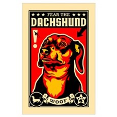 Fear the DACHSHUND! Poster