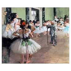 Degas Ballet Class Poster