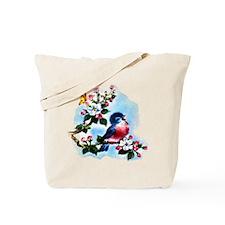 Cute Bluebird Singing Tote Bag
