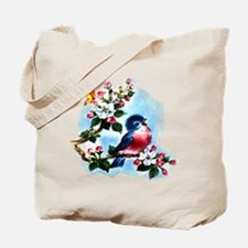 Cute Bluebird Singing Tote Bag