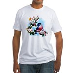 Cute Bluebird Singing Fitted T-Shirt