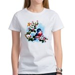 Cute Bluebird Singing Women's T-Shirt