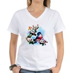 Cute Bluebird Singing Women's V-Neck T-Shirt