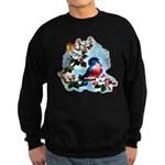 Cute Bluebird Singing Sweatshirt (dark)