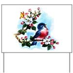 Cute Bluebird Singing Yard Sign