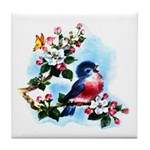 Cute Bluebird Singing Tile Coaster