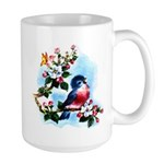 Cute Bluebird Singing Large Mug