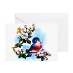 Cute Bluebird Singing Greeting Card