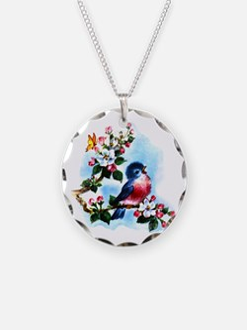 Cute Bluebird Singing Necklace