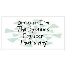 Because Systems Engineer Poster