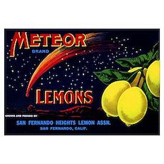 Meteor Lemons Poster