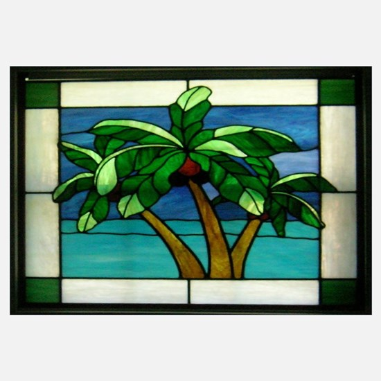 3 Palms in Stained Glass