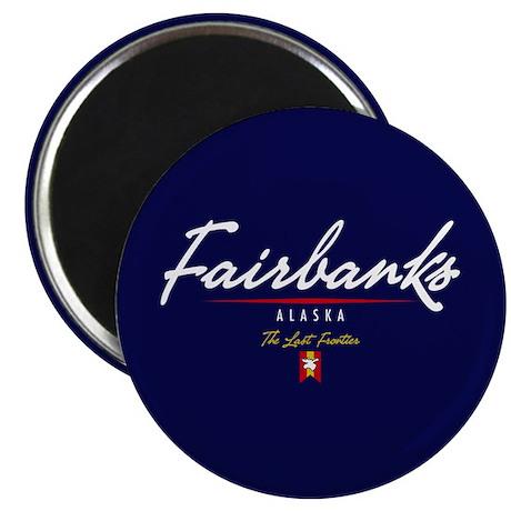 Fairbanks Script Magnet