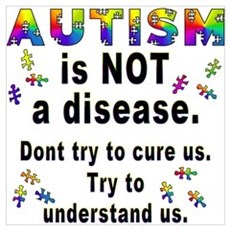 Autism is NOT a disease! Canvas Art