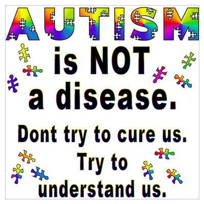 Autism is NOT a disease! Framed Print