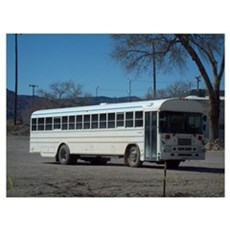 Area 51 Worker Bus Canvas Art