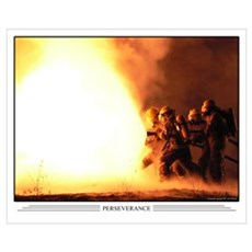 Perseverance Firefighter 13x16 Poster