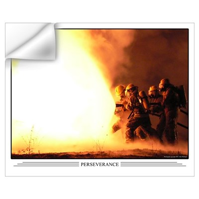 Perseverance Firefighter 13x16 Wall Decal