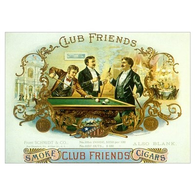 Vintage Cigar Label Poster