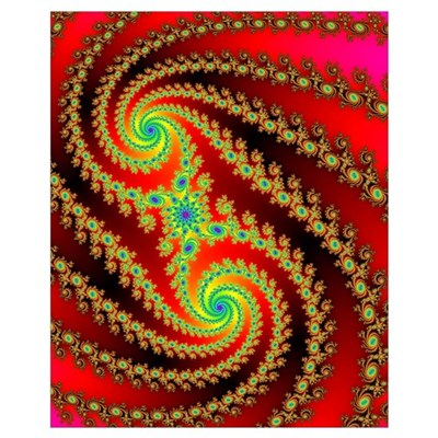 Rainbow X Spiral Canvas Art