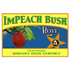 ImPEACH Rove Brand Bush! Poster