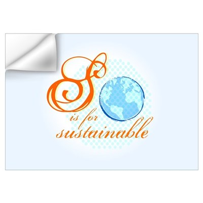 S is for Sustainable | Wall Decal