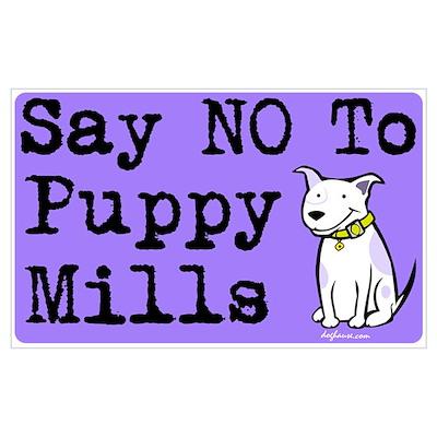 No Puppy Mills Poster